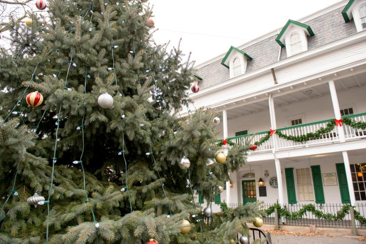 The holidays are a great time to visit Doylestown with outdoor tree decorations and museum activities.