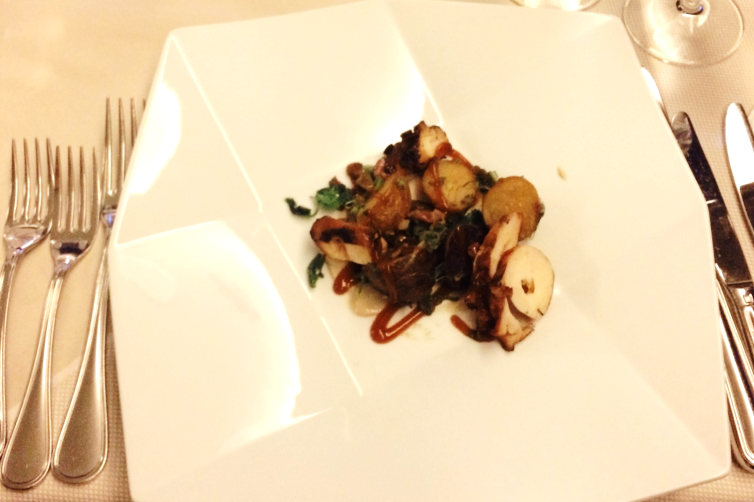 Grilled Ocotopus at Mission Hill Culinary Class