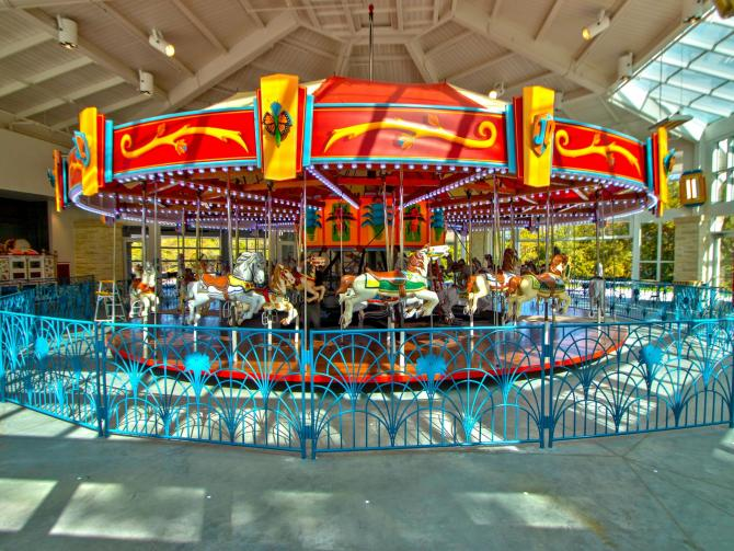 Fully Restored Joyland Carousel at Botanica