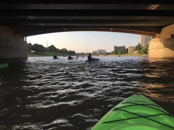 Floating the Arkansas River Under Waterman on a Kayak