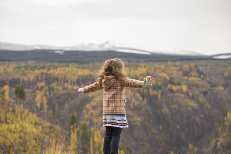 Hannah at Myra Canyon