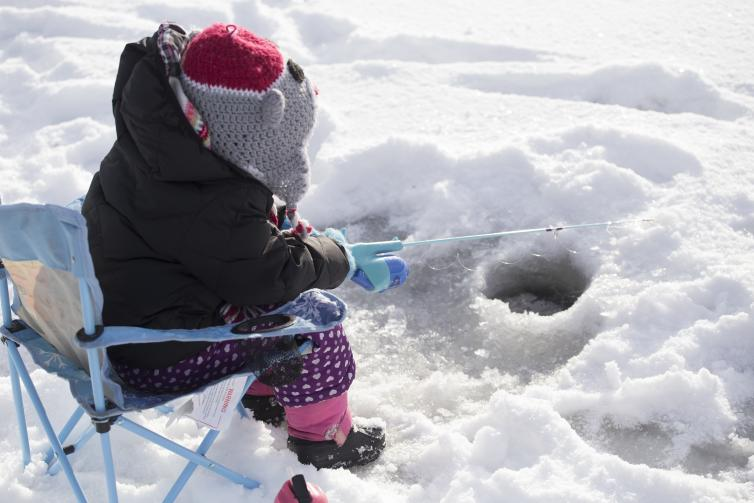 Kids Ice Fishing