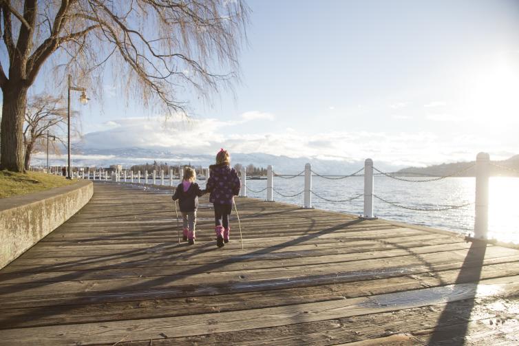 Girls Downtown Boardwalk