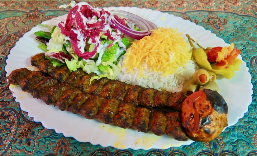 Lamb and beef skewers from Anar.