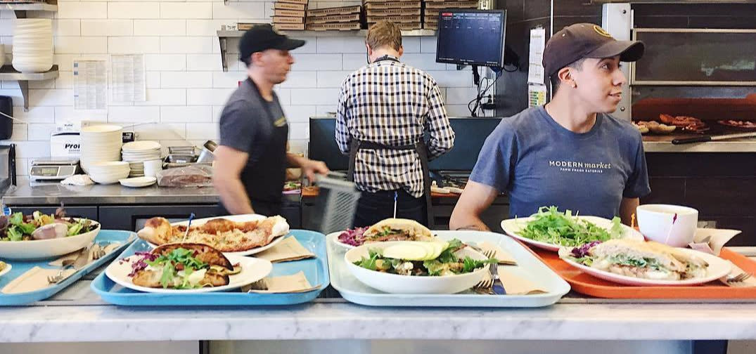 Food being made at Modern Market Eatery