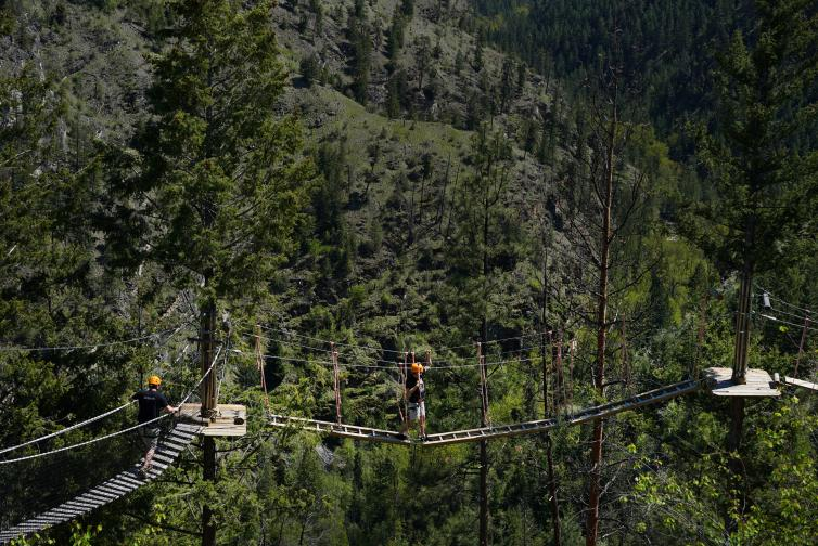 Photo by BC Ale Trail, for Kelowna Ale Trail. Myra Canyon Adventure Park