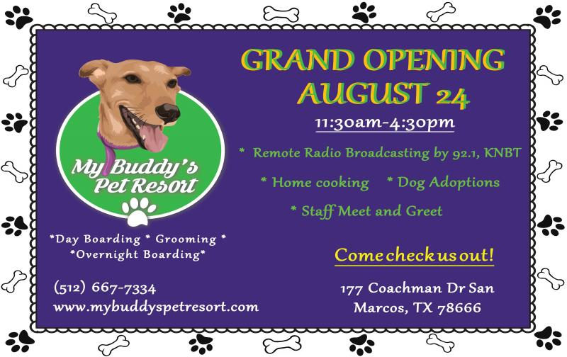 My Buddy's pet resort grand opening