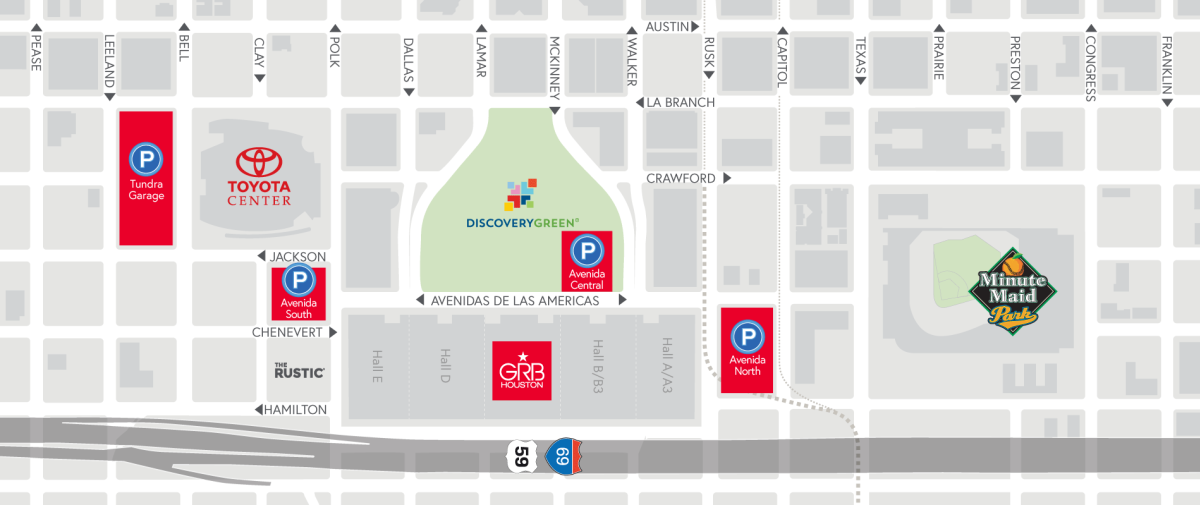 Avenida Houston Parking Map Slider