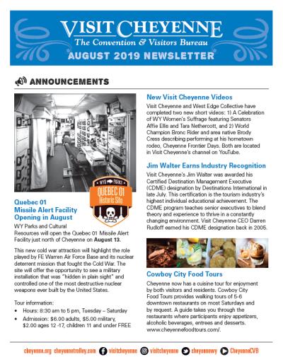 August 2019 Newsletter thumb