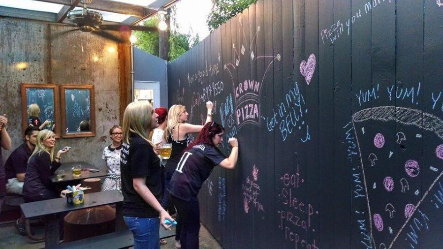 Crown Pizza Chalkboard Wall