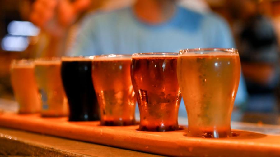 Carolina Brewery flight