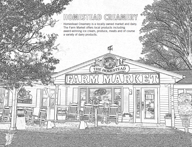 Homestead Creamery Farm Market - Coloring Sheet