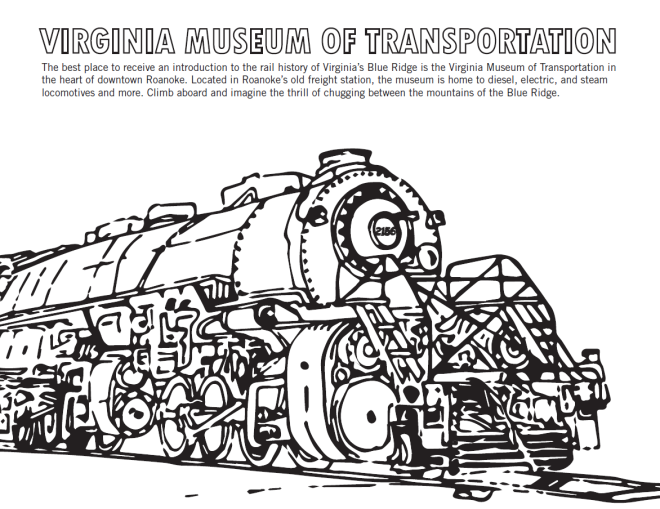 Virginia Museum of Transportation - Coloring Sheet