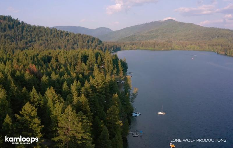 Heffley Lake Drone Shot