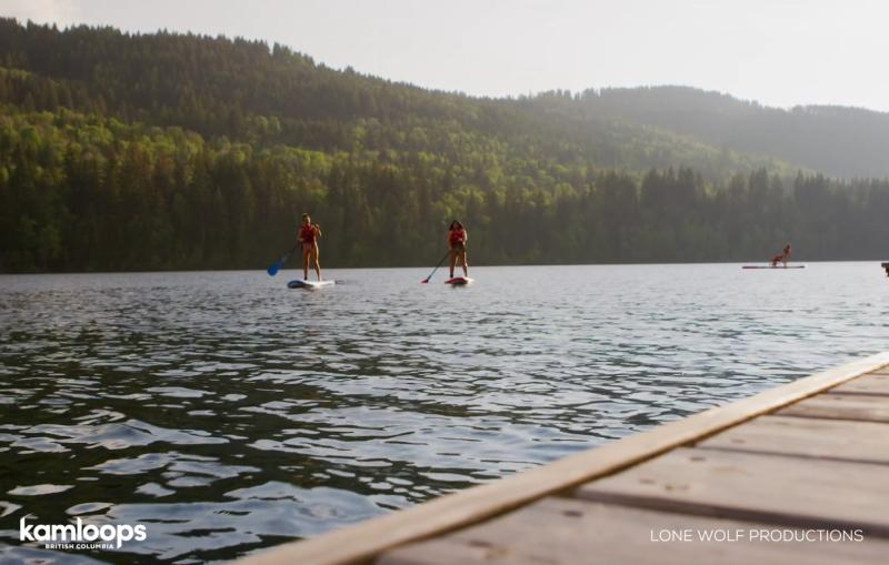 Stand Up Paddleboarding at Heffley Lake