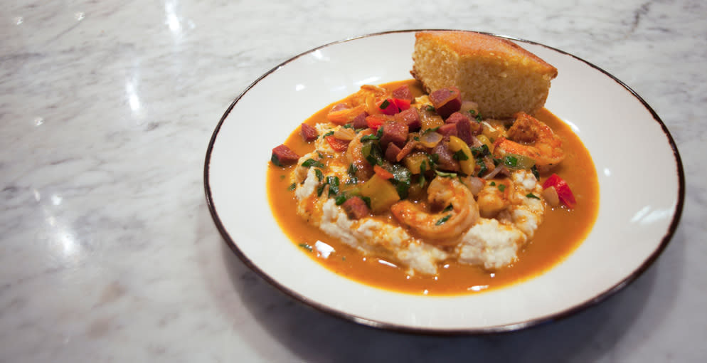 Top Brunch In Overland Park Shrimp and Grits at Brass Onion