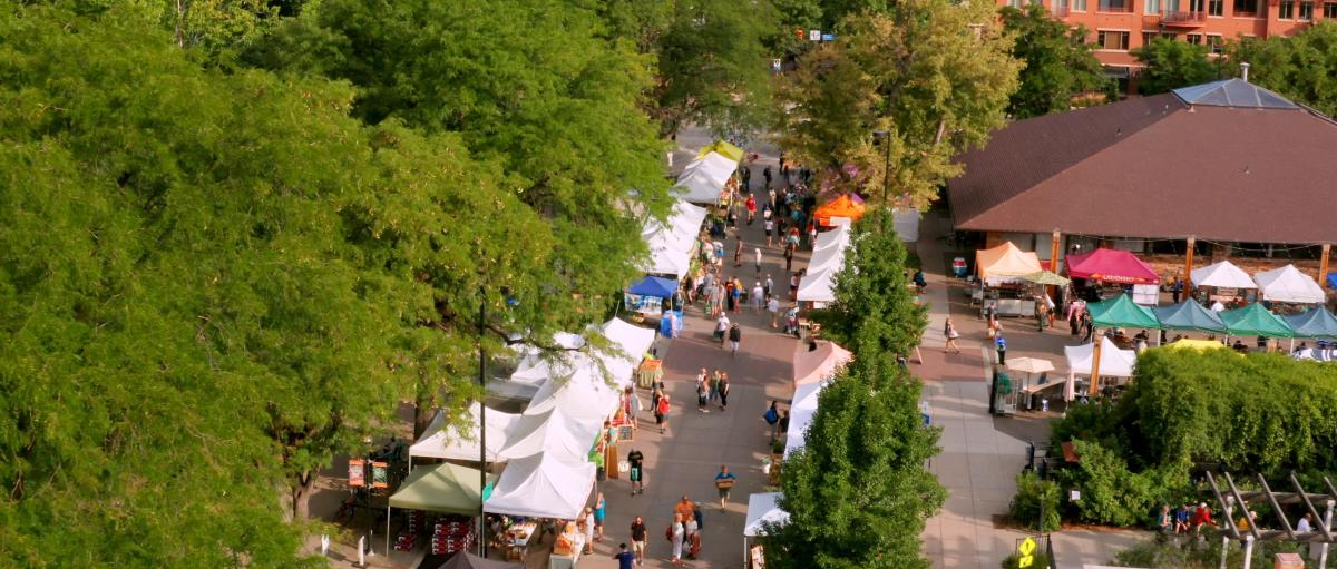 Boulder Farmers Market From Above