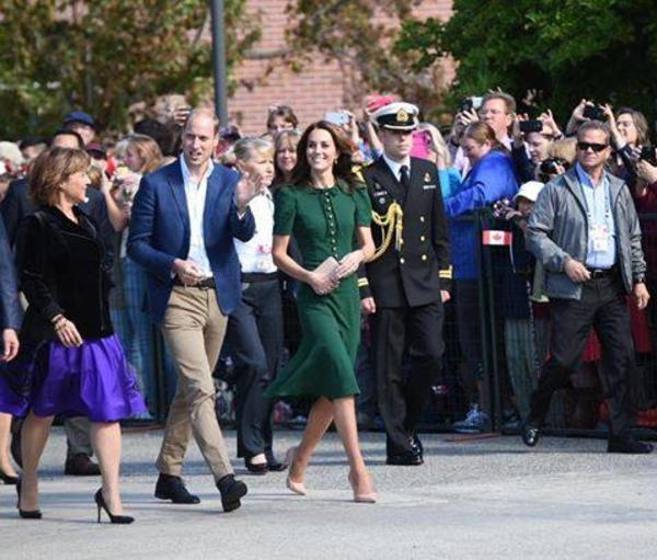 Will and Kate Stroll through UBC OKanagan's Central Courtyard Alongdisde Premier Christie Clark