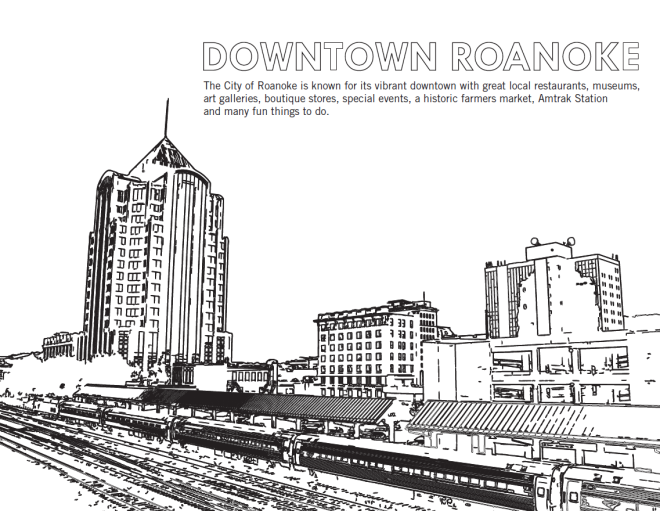 Downtown Roanoke - Coloring Sheet