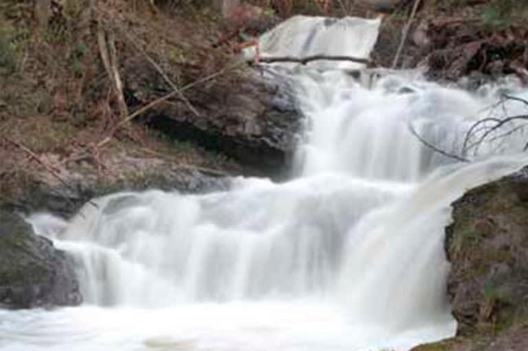 Carp River Falls In Marquette, MI