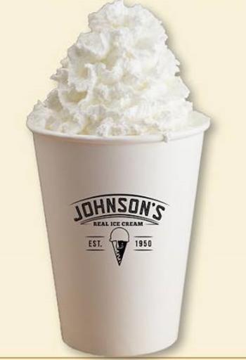 Johnsons hot chocolate float