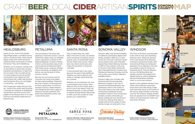 Sonoma County Beer & Spirits Map