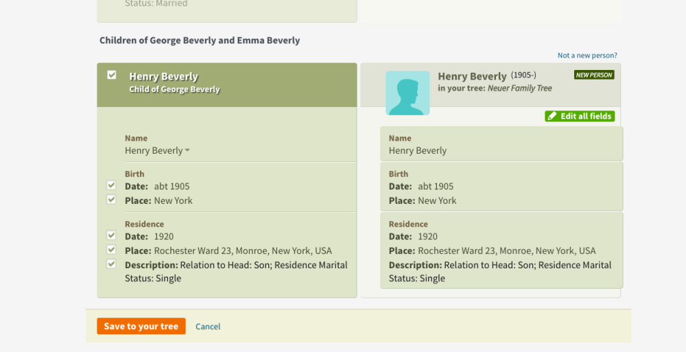 Genealogy Example