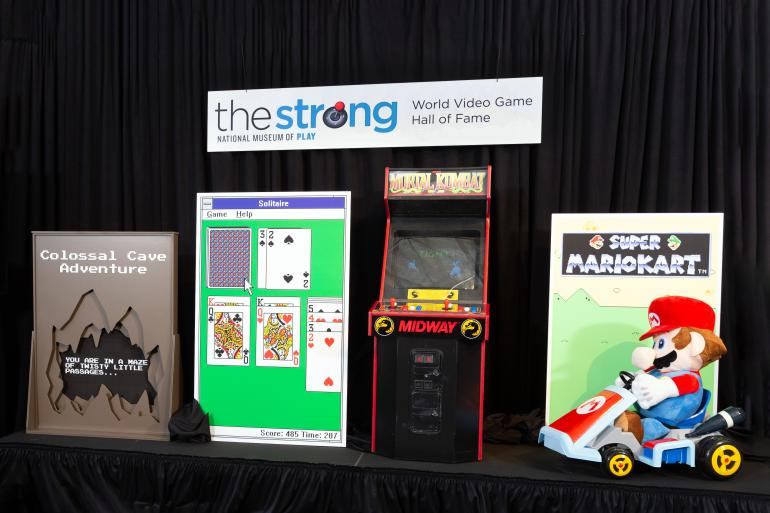 2019 World Video Game Hall of Fame Inductees , Colossal Cave, Microsoft Solitaire, Mortal Kombat, Super Mario Kart