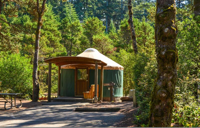 Yurt Camping at Jessie Honeyman by Melanie Griffin