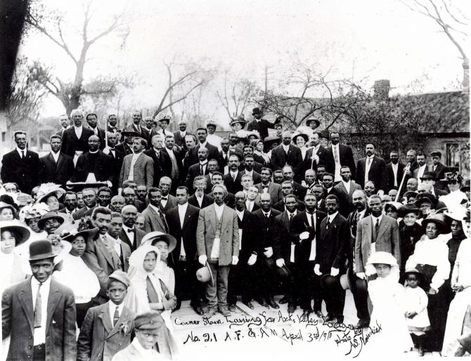 Cornerstone laying for the Ark Valley Lodge