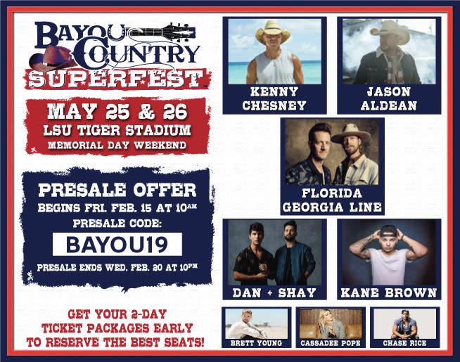 Bayou Country Presale