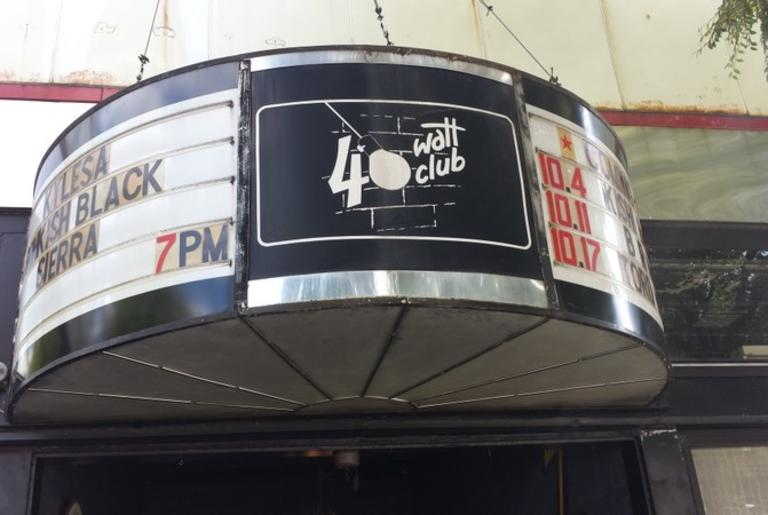 40 Watt Club Exterior Logo