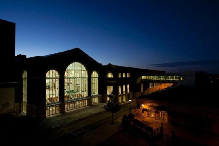 Classic Center Atrium Exterior Evening