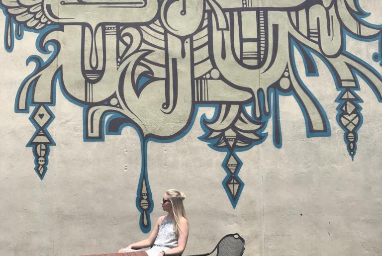 Chandelier mural