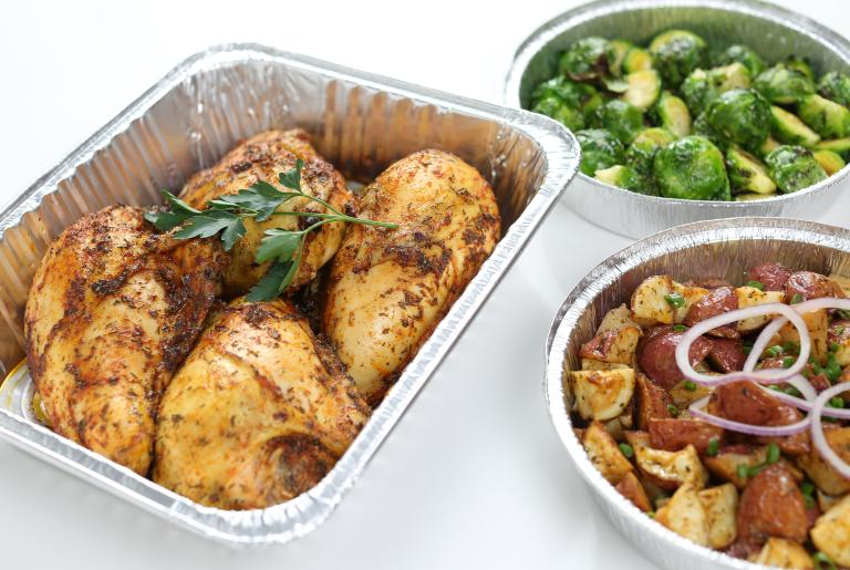 Take-home meals from the Bulldog Bistro