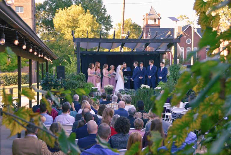 Wedding in Garden Courtyard