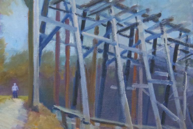 Pineywoods Art Trestle Painting