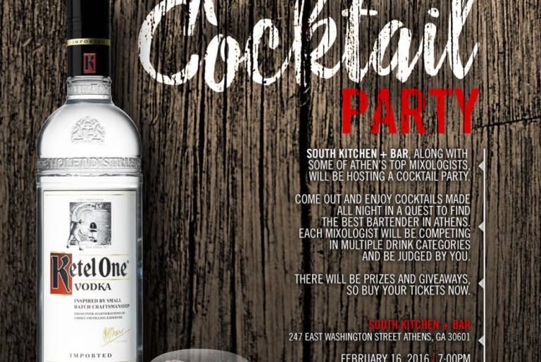 South Craft Cocktail Party Flyer