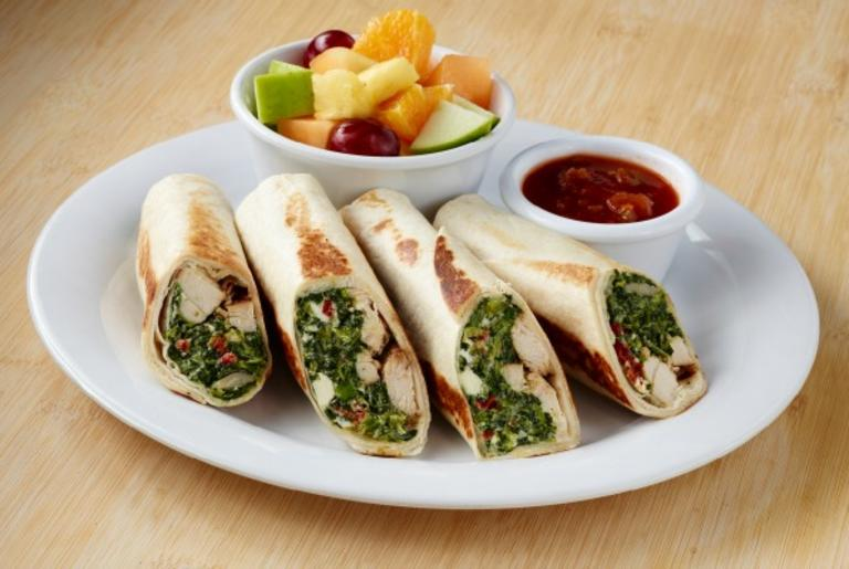Spinach and Chicken Rollups