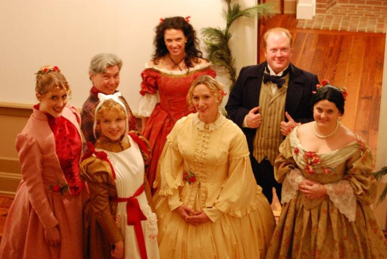 Rose of Athens Theatre performing with the Holiday Museum Mile Tour