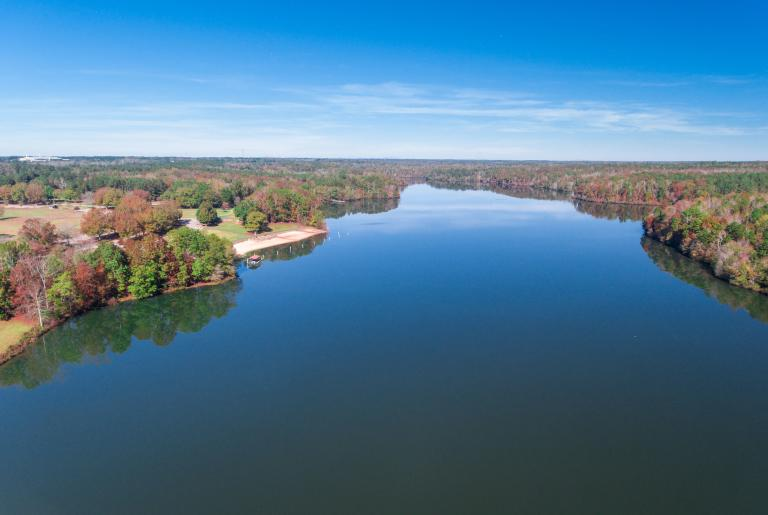 Sandy Creek Park Athens GA aerial lake