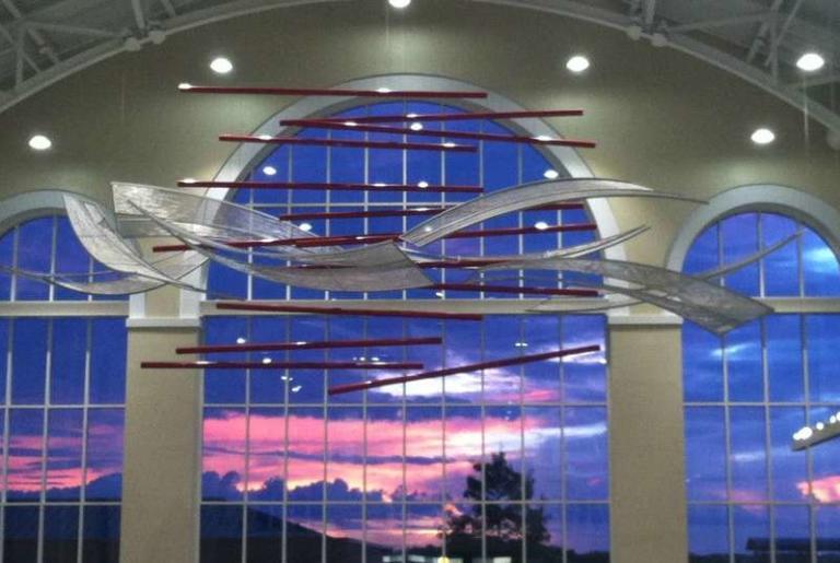Sunrise over The Classic Center Atrium