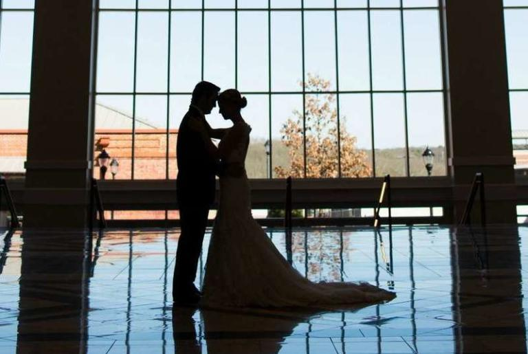 Wedding Silhouette at The Classic Center Atrium