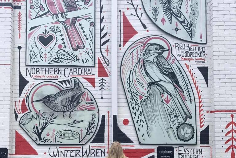 Birdsong mural