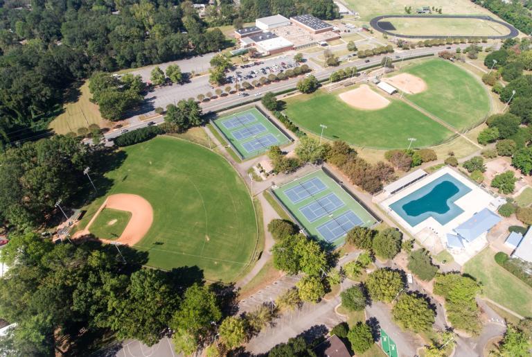 Bishop Park Athens GA aerial