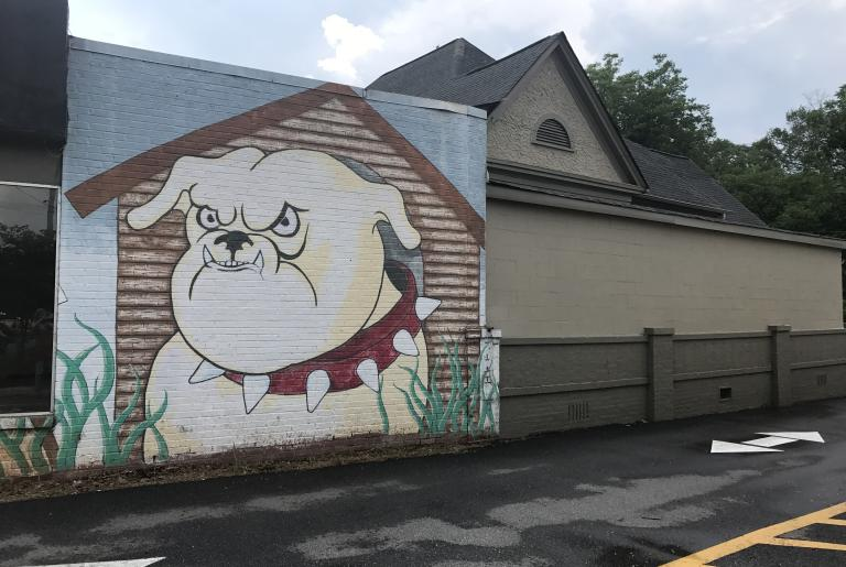Bulldog mural