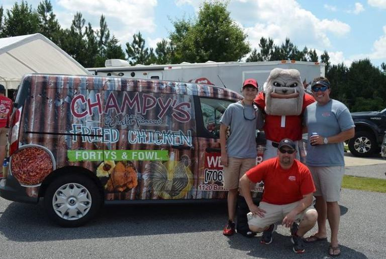 Champy's Athens Catering Van