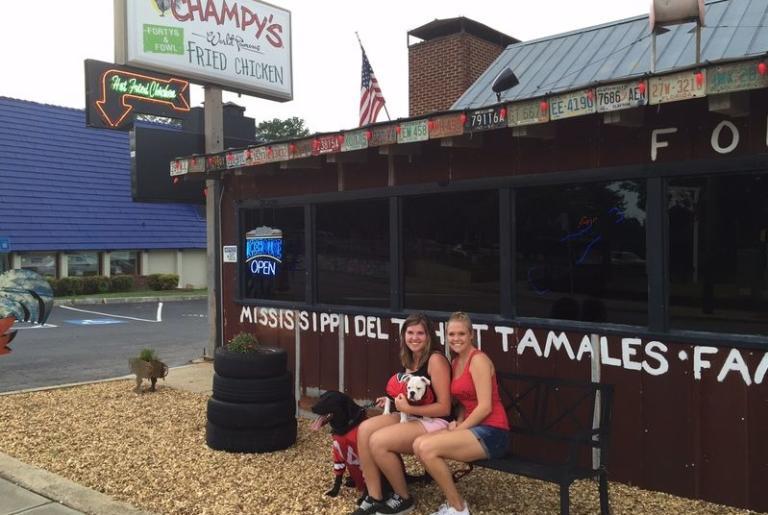 Champy's Athens Exterior pups
