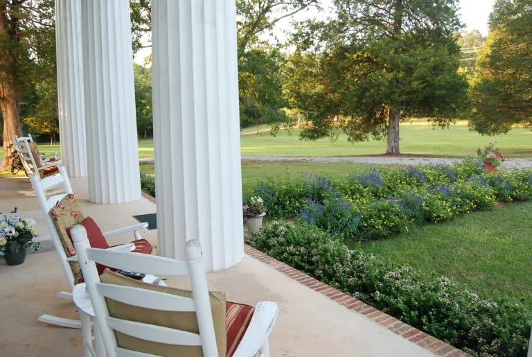 cypress columned portico