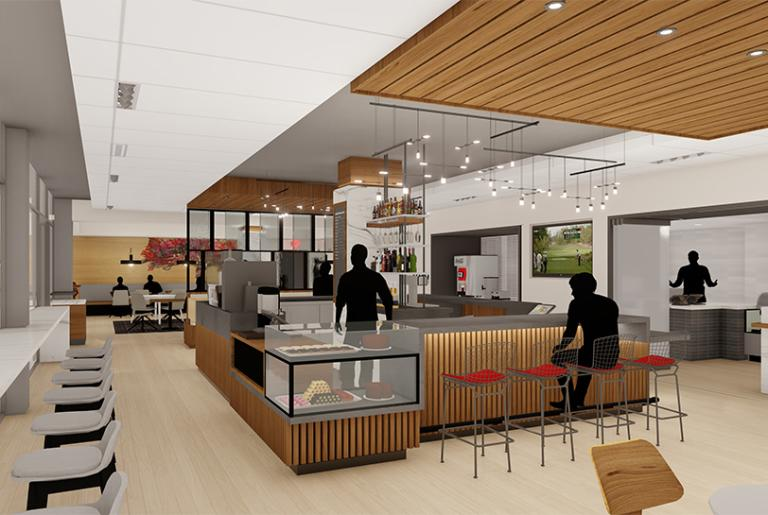 Courtyard Cafe rendering